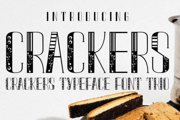 Print on Demand: Crackers Display Font By jehansyah251