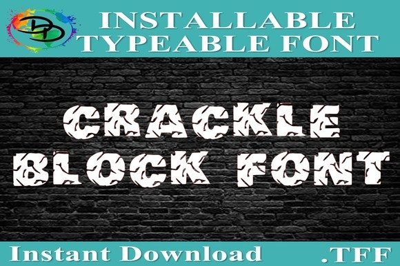 Print on Demand: Crackle Block Decorative Font By dynamicdimensions - Image 2