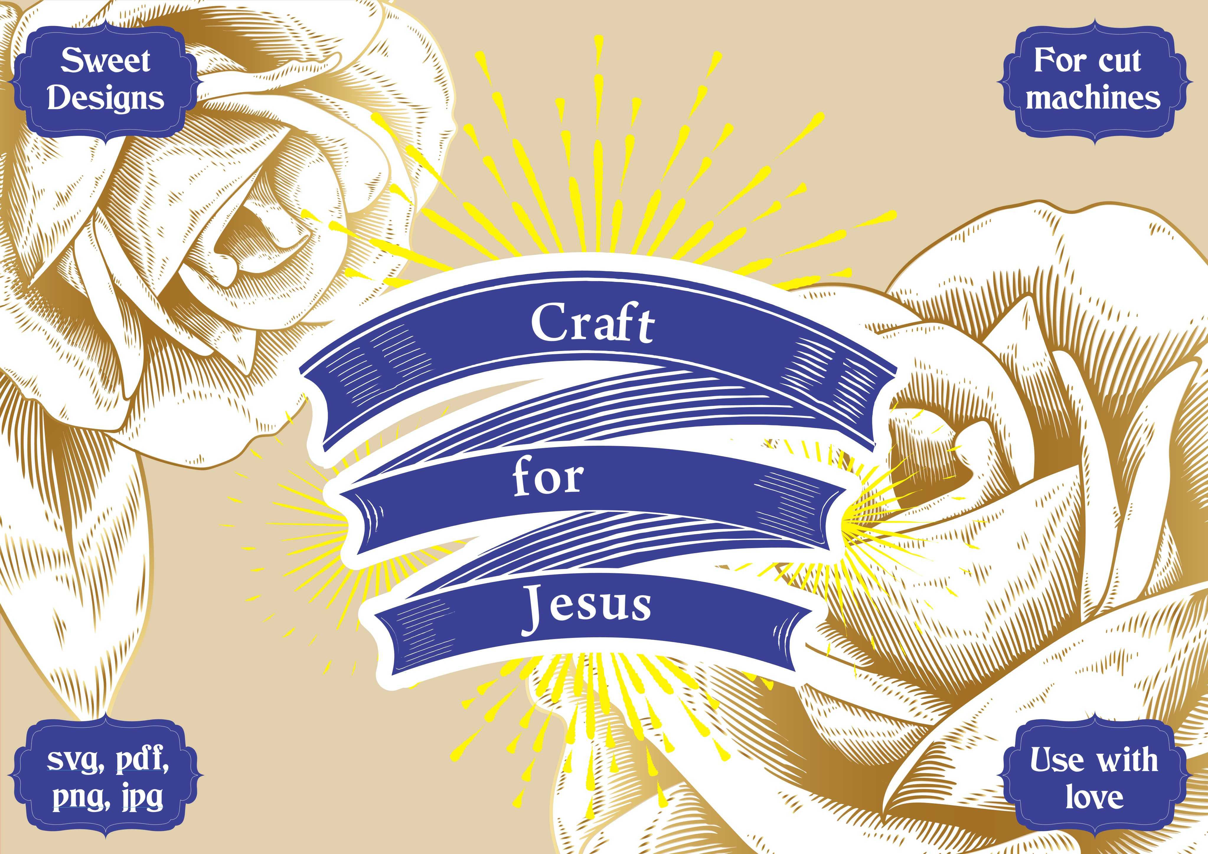 Download Free Craft For Jesus Cross Set Graphic By Jgalluccio Creative Fabrica for Cricut Explore, Silhouette and other cutting machines.