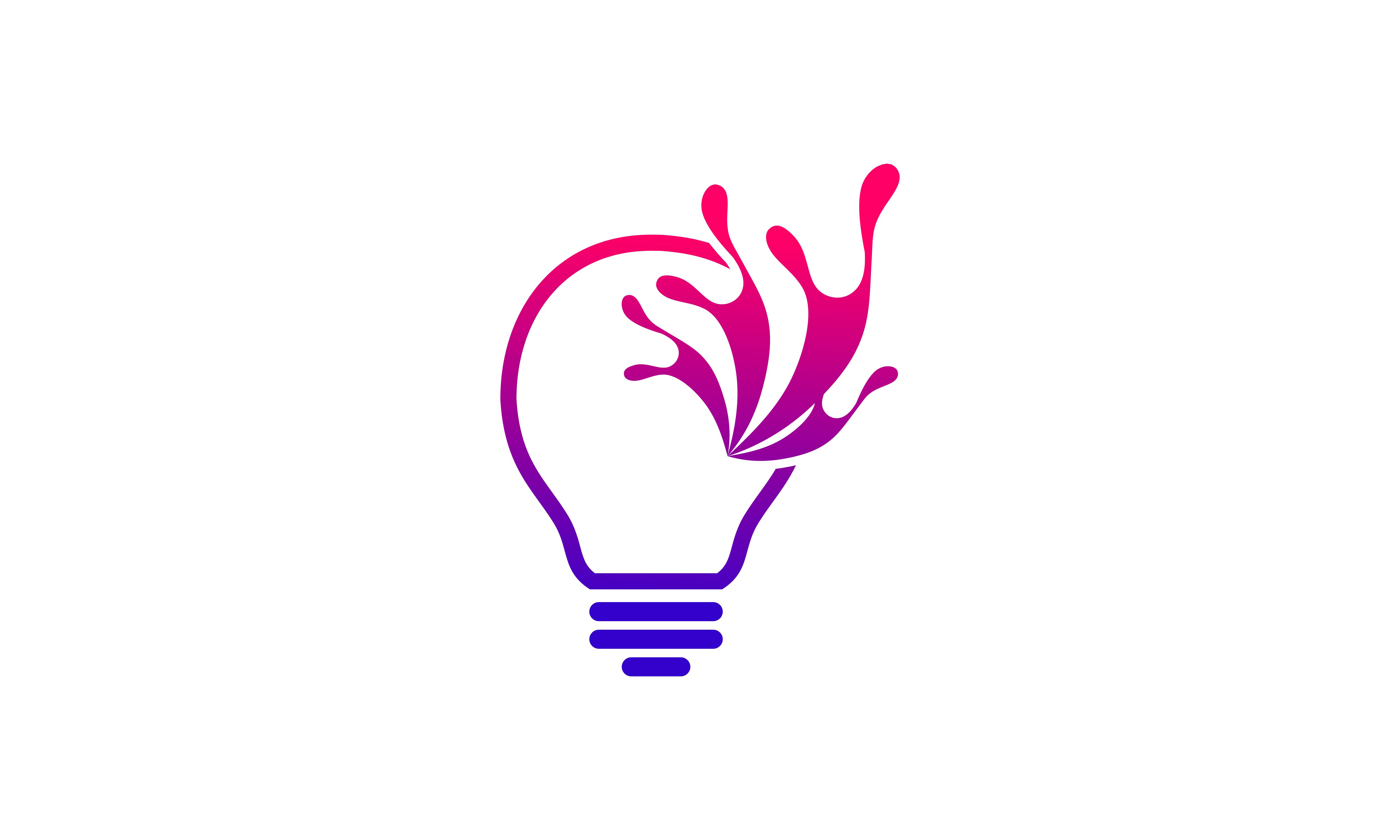 Download Free Creative Idea Bulb Logo Graphic By 2qnah Creative Fabrica for Cricut Explore, Silhouette and other cutting machines.
