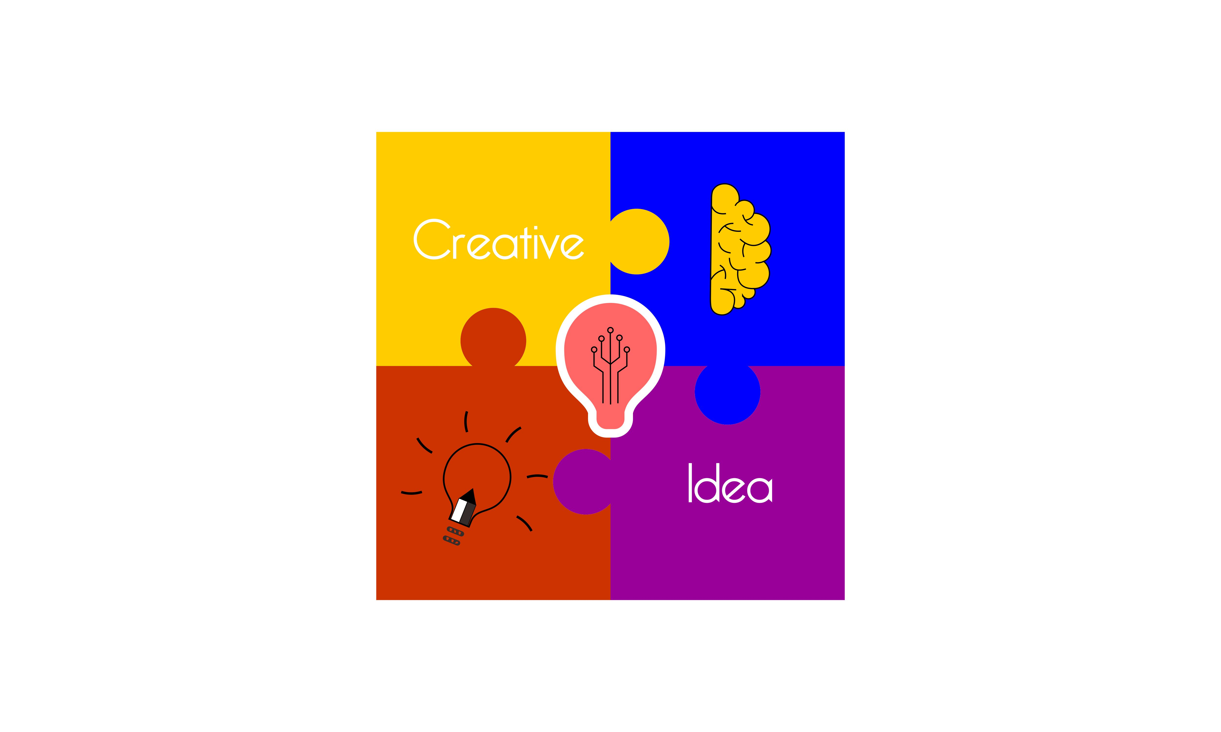 Download Free Creative Idea Mind Puzzle Logo Vector Graphic By Deemka Studio for Cricut Explore, Silhouette and other cutting machines.