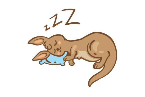 Download Free Cute Kangaroo Sleeping Svg Cut File By Creative Fabrica Crafts for Cricut Explore, Silhouette and other cutting machines.