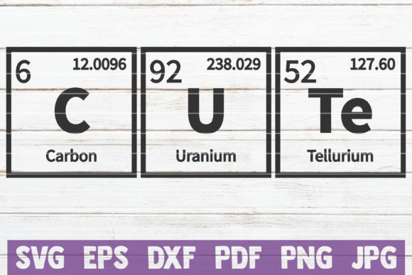Cute Periodic Table SVG Cut File Graphic Graphic Templates By MintyMarshmallows