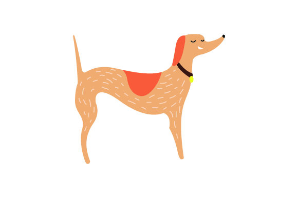 Cute Tall Dog Dogs Craft Cut File By Creative Fabrica Crafts