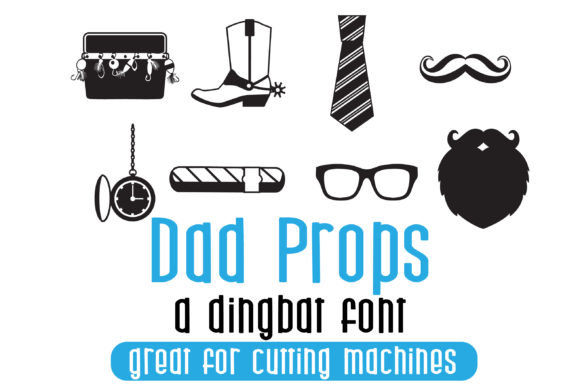 Print on Demand: Dad Props Dingbats Font By Illustration Ink