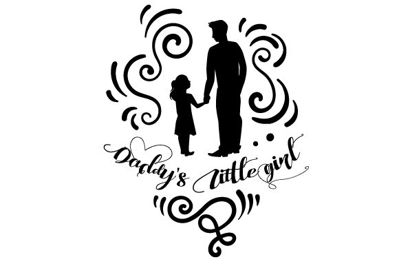 Download Free Daddy S Little Girl Svg Cut File By Creative Fabrica Crafts for Cricut Explore, Silhouette and other cutting machines.