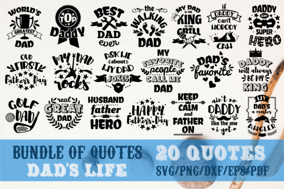 Dad S Life Bundle Father S Day Graphic By Svg Story Creative