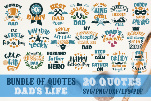 Dad's Life Bundle Father's Day Graphic Crafts By SVG Story
