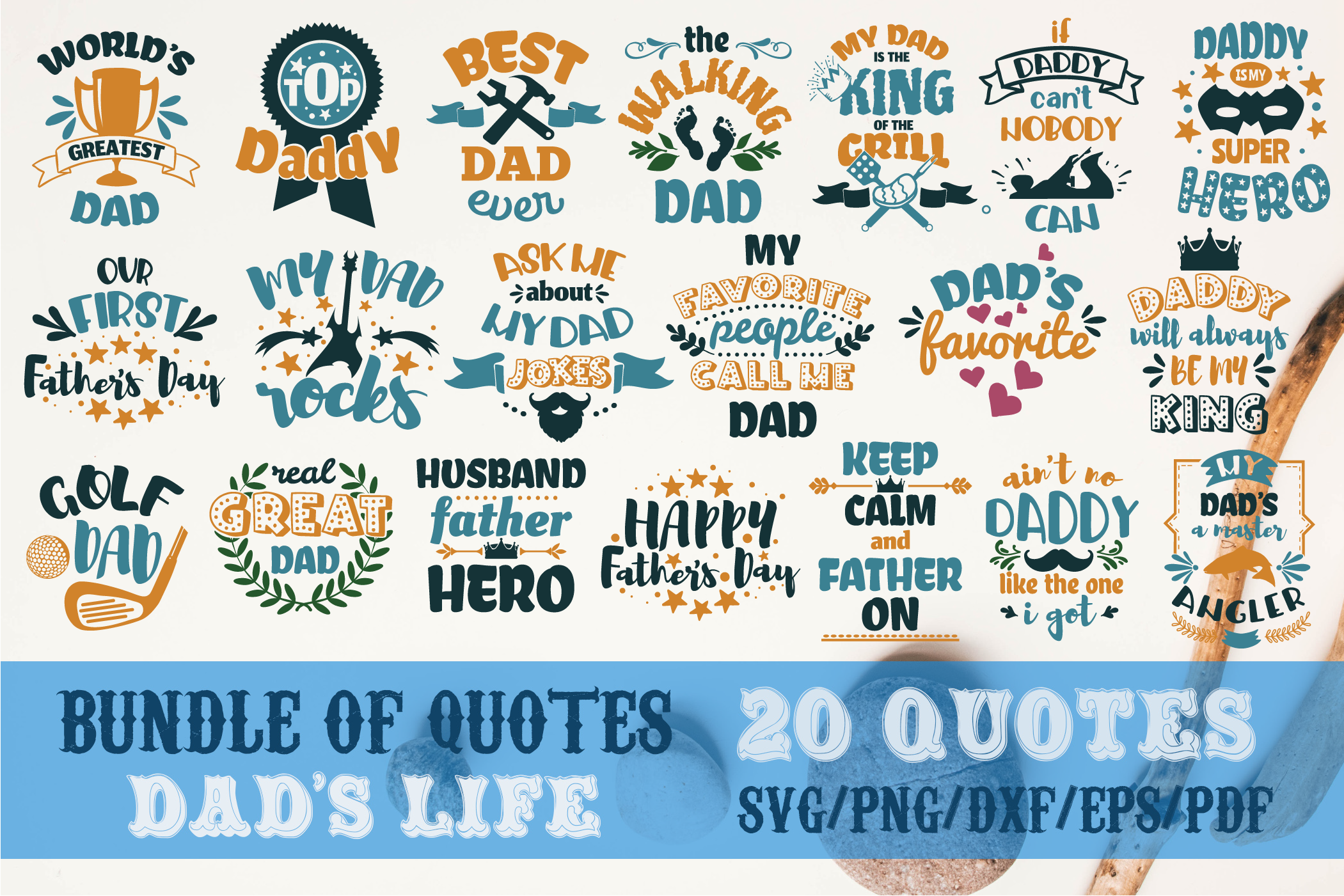 Download Free Dad S Life Bundle Father S Day Graphic By Svg Story Creative for Cricut Explore, Silhouette and other cutting machines.