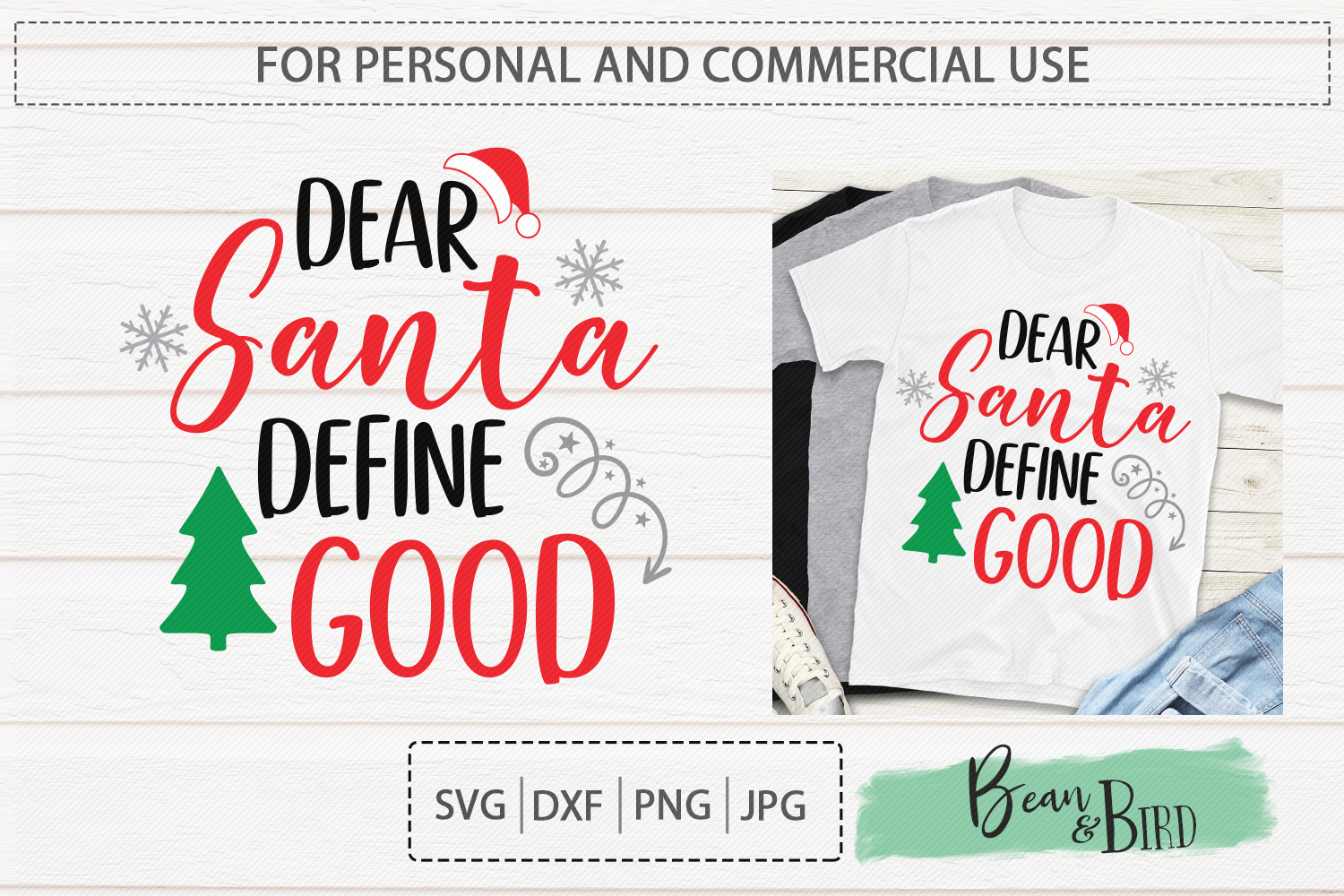Download Free Dear Santa Define Good Graphic By Jessica Maike Creative Fabrica SVG Cut Files