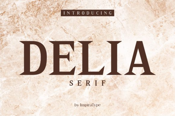 Print on Demand: Delia Serif Font By InspiraType