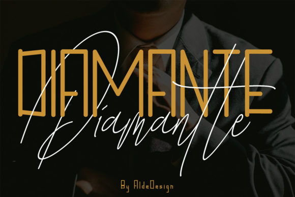 Diamante Font By aldedesign Image 4