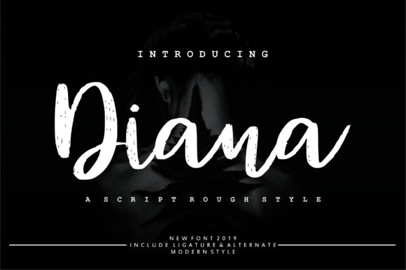 Print on Demand: Diana Rough Script & Handwritten Font By Vunira