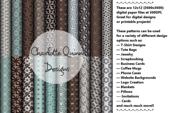 Print on Demand: Digital Papers Graphic Patterns By Digital Pattern Club