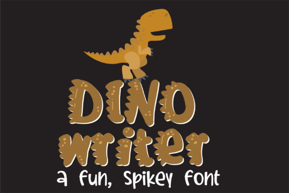 Print on Demand: Dino Writer Display Font By Illustration Ink - Image 1