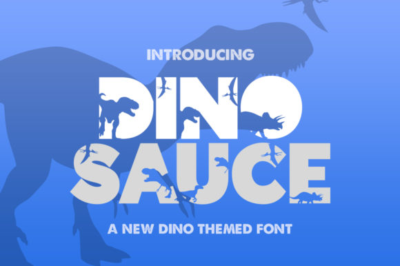 Print on Demand: Dinosauce Sans Serif Font By Salt & Pepper Designs