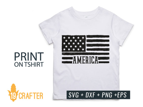 Distressed American Flag Graphic By Great19 Creative Fabrica
