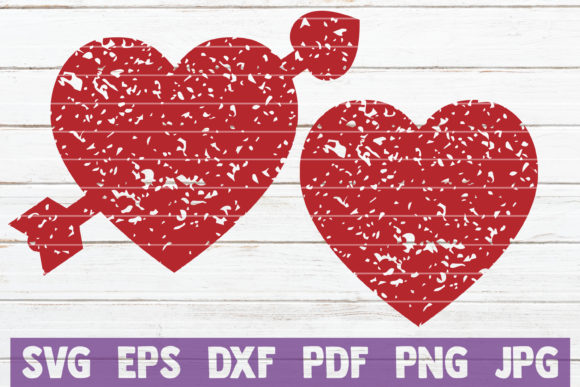 Download Free Distressed Hearts Svg Cut Files Graphic By Mintymarshmallows for Cricut Explore, Silhouette and other cutting machines.