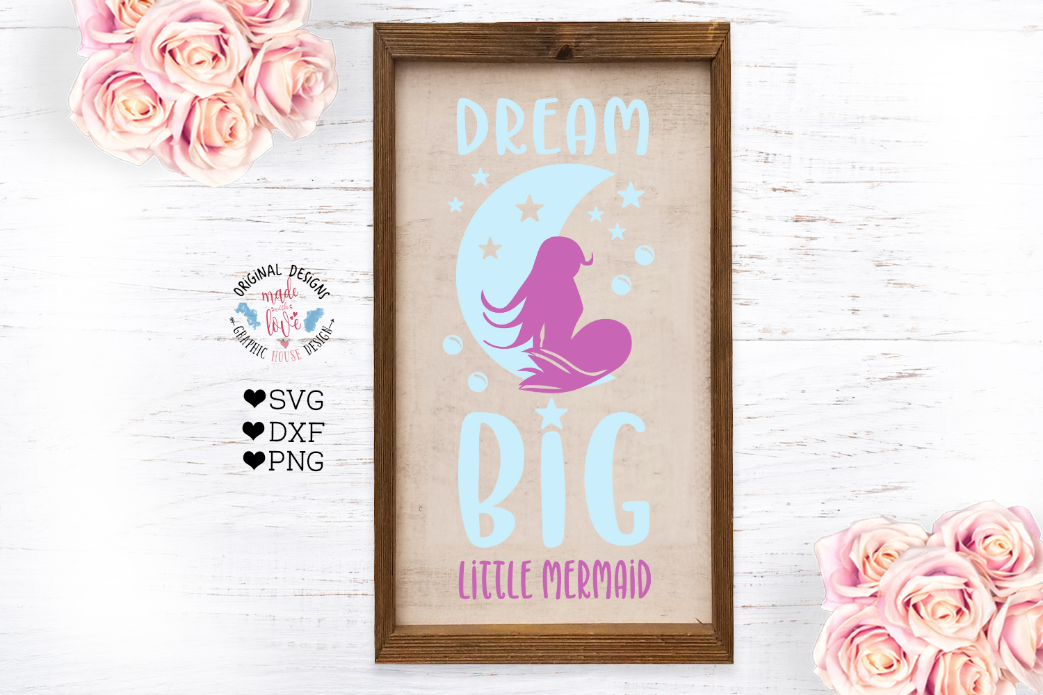 Download Free Dream Big Little Mermaid Cut File Clip Graphic By for Cricut Explore, Silhouette and other cutting machines.