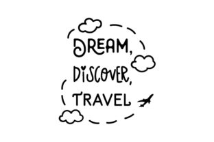 Dream, Discover, Travel Craft Design By Creative Fabrica Crafts