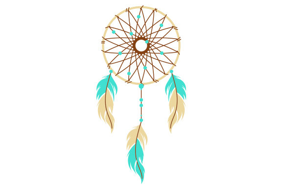 Dreamcatcher Feathers Boho Craft Cut File By Creative Fabrica Crafts - Image 1