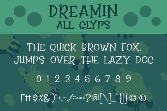 Print on Demand: Dreamin Display Font By Subectype - Image 2