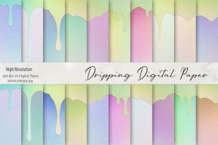 Dripping Iridescent Textures Graphic By artisssticcc