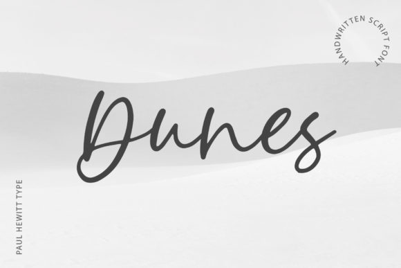 Print on Demand: Dunes Script & Handwritten Font By paulhewittype