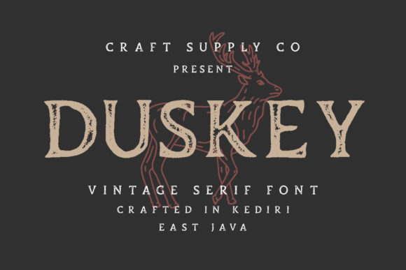 Print on Demand: Duskey Serif Font By craftsupplyco