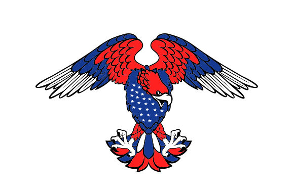 Download Free Eagle With American Flag Pattern Svg Cut File By Creative for Cricut Explore, Silhouette and other cutting machines.
