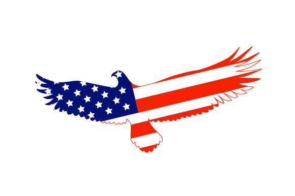 Download Free Eagle With American Flag Pattern Design Svg Cut File By Creative for Cricut Explore, Silhouette and other cutting machines.