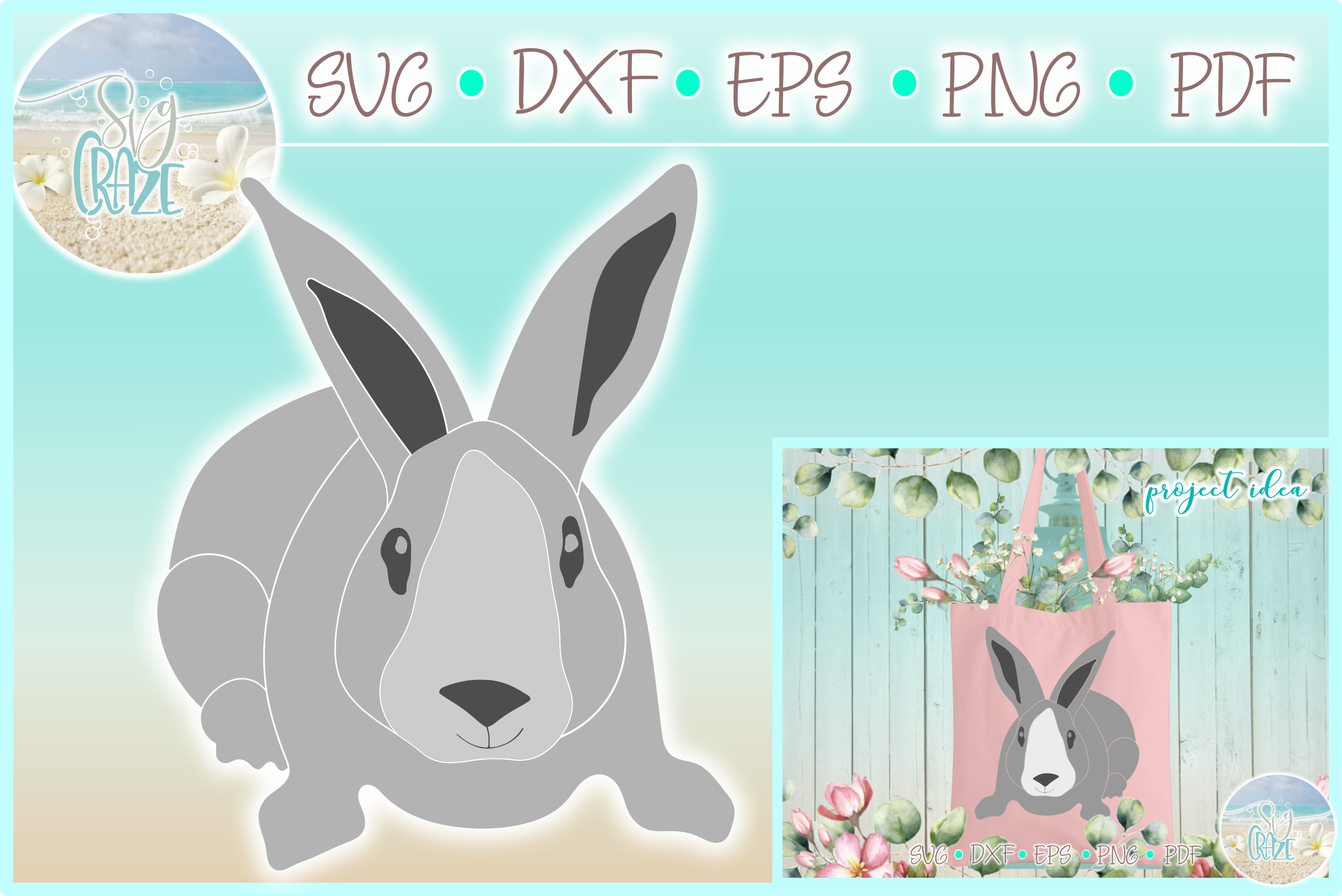 Download Free Easter Bunny Rabbit Graphic By Harbor Grace Designs Creative for Cricut Explore, Silhouette and other cutting machines.