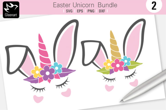 Download Free Easter Unicorn Graphic By Gleenart Graphic Design Creative Fabrica for Cricut Explore, Silhouette and other cutting machines.