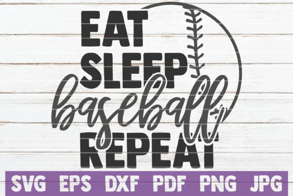 Download Free Eat Sleep Baseball Repeat Svg Cut File Graphic By for Cricut Explore, Silhouette and other cutting machines.