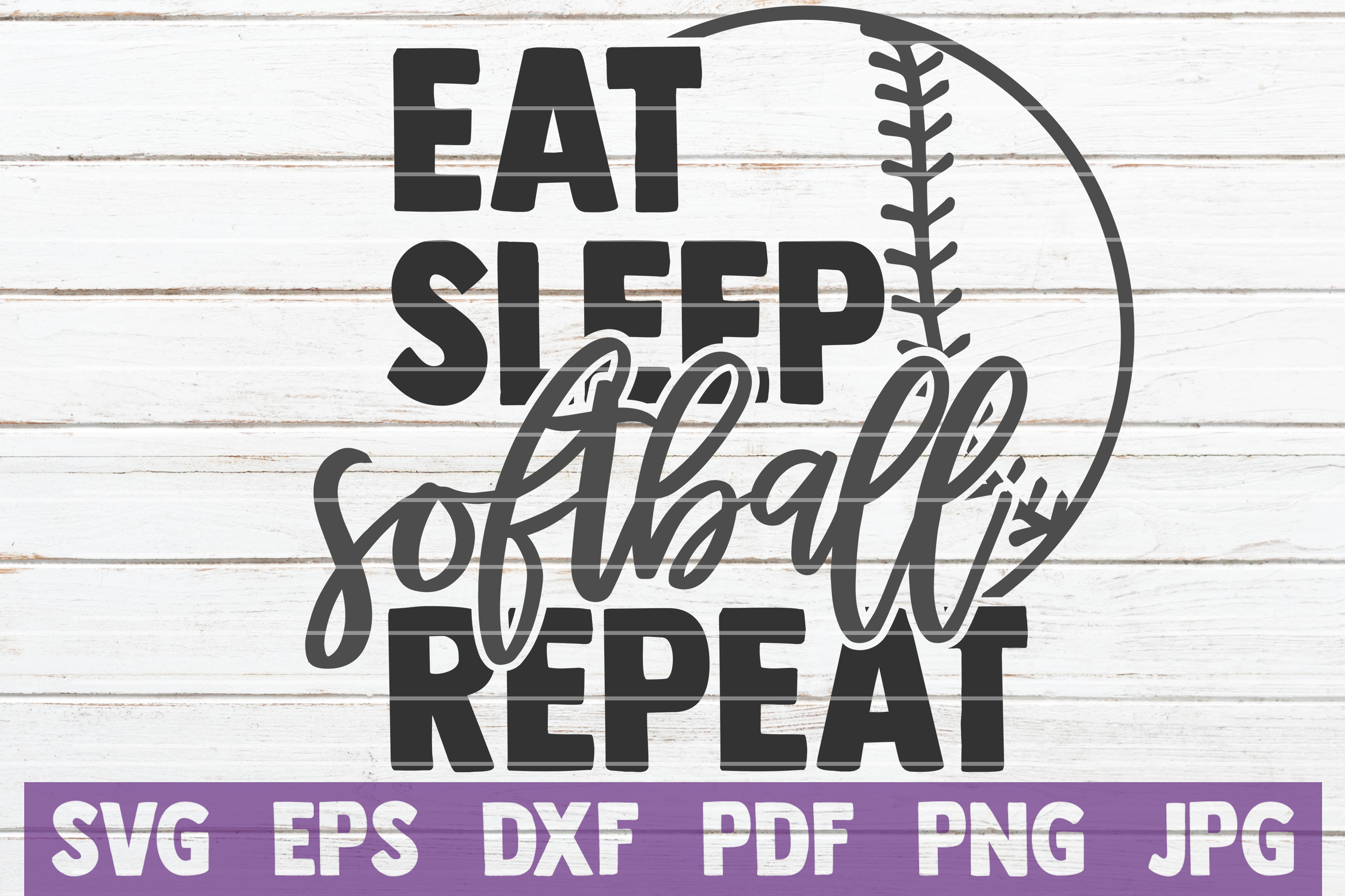 Download Free Eat Sleep Softball Repeat Svg Cut File Graphic By for Cricut Explore, Silhouette and other cutting machines.