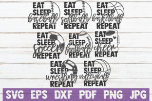 Download Free Eat Sleep Sport Repeat Svg Bundle Graphic By Mintymarshmallows for Cricut Explore, Silhouette and other cutting machines.