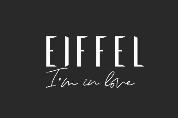 Eiffel in Love Duo Font By thomasaradea Image 2