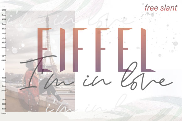 Print on Demand: Eiffel in Love Duo Script & Handwritten Font By thomasaradea