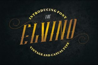 Print on Demand: Elvino Display Font By putracetol