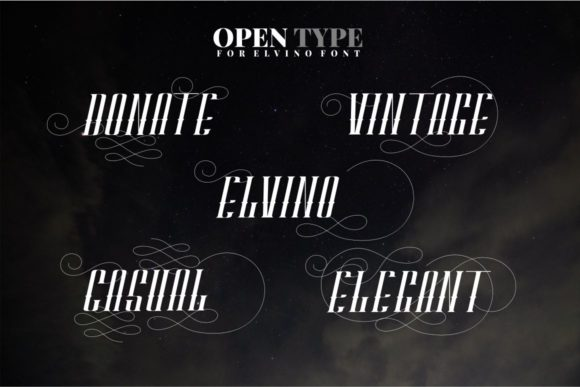 Print on Demand: Elvino Display Font By putracetol - Image 6