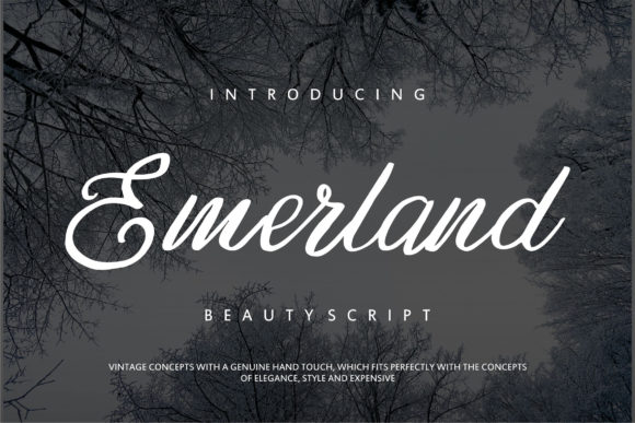 Print on Demand: Emerland Script & Handwritten Font By Vunira