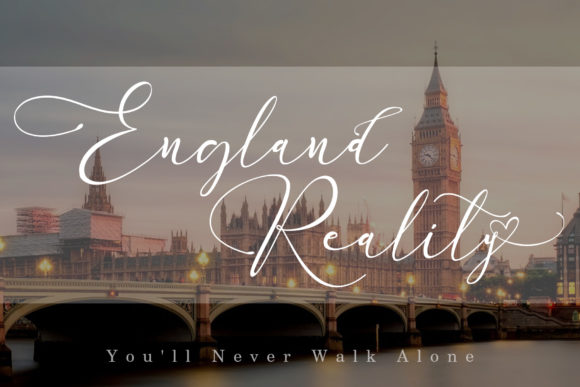Print on Demand: England Reality Script & Handwritten Font By aldedesign