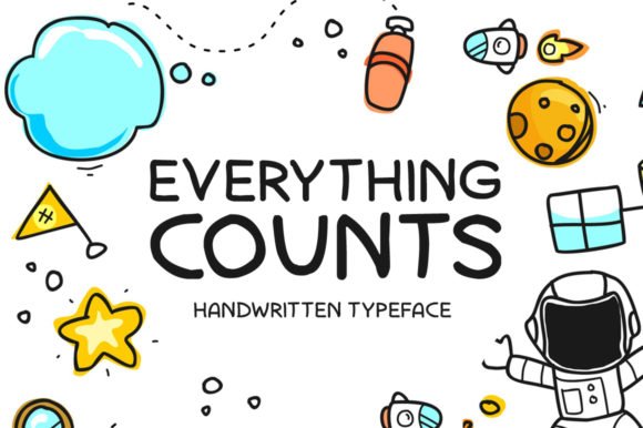 Print on Demand: Everything Counts Display Font By Imposing Fonts - Image 1