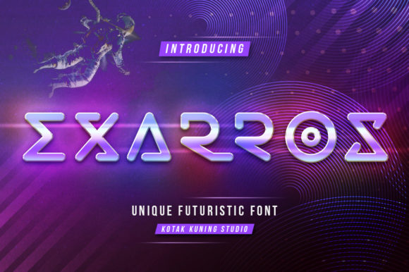 Print on Demand: Exarros Display Font By Kotak Kuning Studio