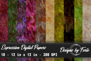 Expression Digital Papers Graphic By Heidi Vargas-Smith