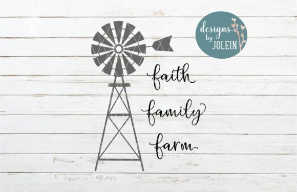 Download Free Faith Family Farm Graphic By Designs By Jolein Creative Fabrica for Cricut Explore, Silhouette and other cutting machines.