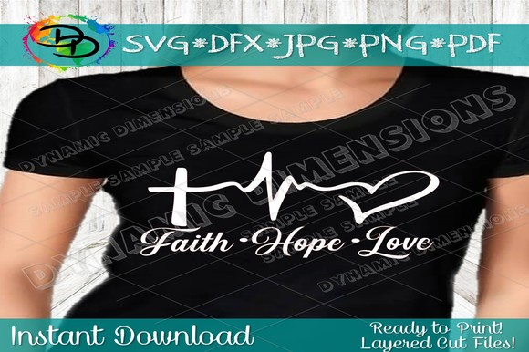 Download Free Faith Christian Graphic By Dynamicdimensions Creative Fabrica for Cricut Explore, Silhouette and other cutting machines.