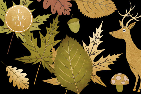 Fall Forest Clipart Set Graphic By Daphnepopuliers Creative Fabrica
