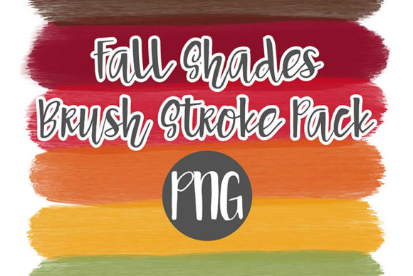 Print on Demand: Fall Shades Brush Stroke Pack Graphic Illustrations By boecustomdesign