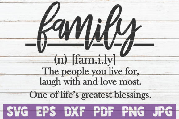 Family Definition SVG Cut File Graphic Graphic Templates By MintyMarshmallows